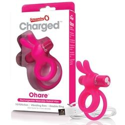 Sexshop - the screaming o charged ohare rabbit vibe fioletowy - pierścień wibrujący na członka - online
