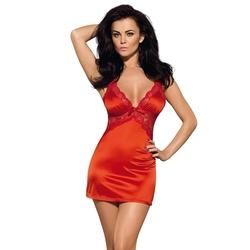 Sexshop - czerwona i gorąca koszulka obsessive secred chemise  thong lxl - online