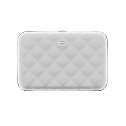 Portfel Aluminiowy Ogon Designs Quilted Button Silver RFID protect - Silver