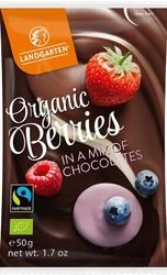 Landgarten | liofilizowane maliny, jagody i truskawki w czekoladzie 50 g | gluten free - organic - fairtrade