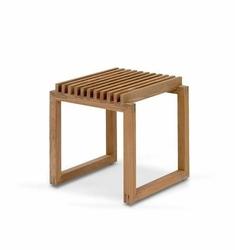 Taboret Cutter drewno tekowe