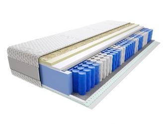 Materac kieszeniowy kano lux 140x180 cm miękki średnio twardy 2x visco memory lateks
