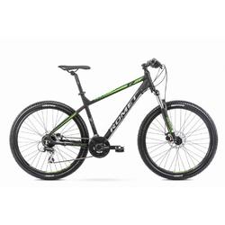 Rower górski romet rambler r7.2 27,5 2020, kolor czarny-seledynowy, rozmiar 21