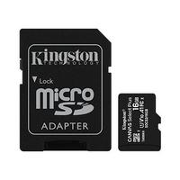 Kingston karta pamięci microsd 16gb canvas select plus 100mbs adapter