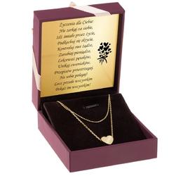 Pozłacany naszyjnik z sercem pr. 925 prezent z grawerem i dedykacją