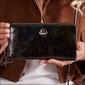 Skórzany portfel damski czarno - zielony forever young 76119 - czarny z zielonym