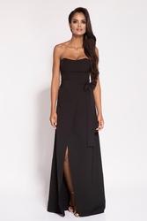 Czarna sukienka gorsetowa wieczorowa
