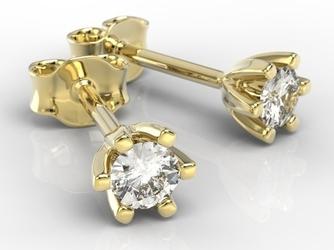 Kolczyki z żółtego złota z diamentami lpk-8020z
