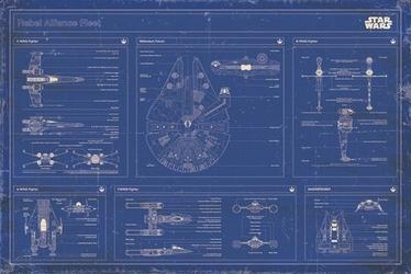 Star Wars - Sojusz Rebeliantów Flota - plakat