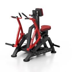 Maszyna na wolny ciężar na mięśnie pleców mf-u017 - marbo sport - bordowy  antracyt metalic
