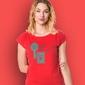 Keep smiling t-shirt damski czerwony m
