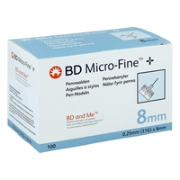 Bd micro fine+ 8 mm nadeln 0,25x8 mm