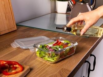 Pojemnik żaroodporny do mikrofali i piekarnika  do przechowywania z pokrywą z tworzywa altom design vega prostokątny 1,5 l