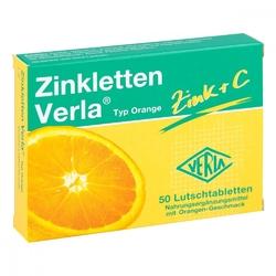 Zinkletten verla pomarańczowe tabletki do ssania