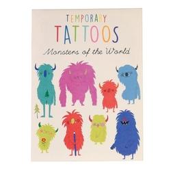 Tatuaże zmywalne dla dzieci, duże, potworki, rex london - potworki