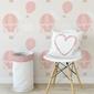 Tapeta dziecięca - pink balloonworld , rodzaj - próbka tapety 50x50cm