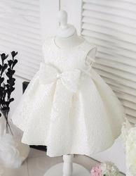 Biała koronkowa sukienka dla dziewczynki na chrzciny, urodziny, święta