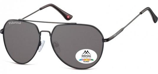 Czarne pilotki okulary aviator montana mp90b polaryzacyjne