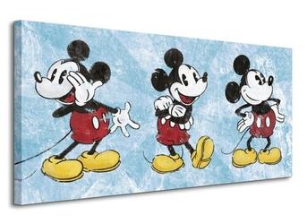 Mickey mouse squeaky chic triptych - obraz na płótnie