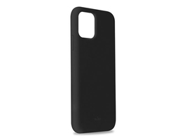 Etui silikonowe puro icon cover do apple iphone 11 pro max 6.5 czarne - czarny