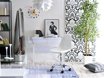 Krzesło obrotowe białe tunis ll ekoskóra
