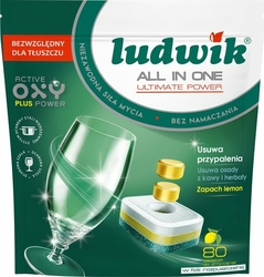 Ludwik tabletki do zmywarki All In One A80 Lemon
