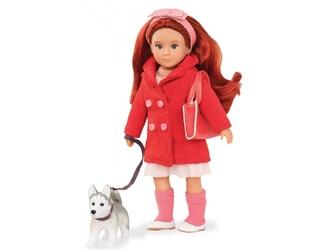 BRYN I BLAZE lalka z pieskiem ruda 15 cm