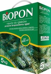 Biopon, nawóz granulowany do iglaków przeciw brązowieniu, karton 5kg