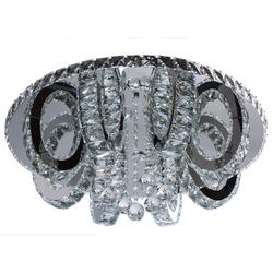 Wytworna lampa sufitowa LED do dużej sypialni RegenBogen Crystal 498012312