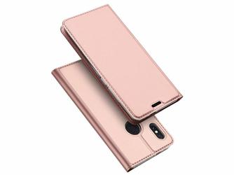 Etui Dux Ducis skin Redmi Note 5 Note 5 Pro Różowe + Szkło - Różowy