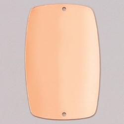 Metalowa zawieszka Efcolor-prostokątny z 2 51x32mm - PR32