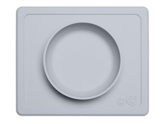 SZARA pastelowa miseczka z podkładką 2w1 Mini Bowl