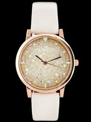Bialy zegarek damski na pasku PERFECT A579 - white zp822a