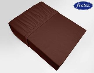 Prześcieradło jersey z gumką Frotex brązowe 021 - brązowy