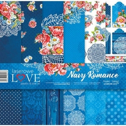 Papier do scrapbookingu 30x30cm Navy Romance - zestaw