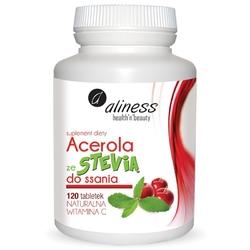ACEROLA ze Stevią do ssania, naturalna witamina C x 120 tabletek