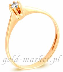 Pierścionek z żółtego złota z DIAMENTEM CEAN412GG