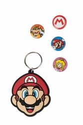 Super Mario - brelok i przypinki