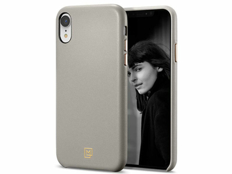 Etui Spigen LA Manon Calin iPhone Xr Oatmeal Beige - Szary