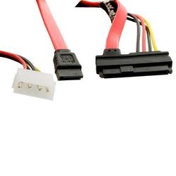 4world Kabel HDD   SATA   45cm   konektor zasilania LP4 czerwony