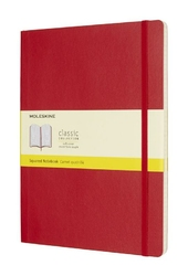 Notes Moleskine w miękkiej oprawie XL czerwony w kratkę