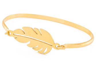 Bransoletka ze stali nierdzewnej złota gałązka - złota gałązka