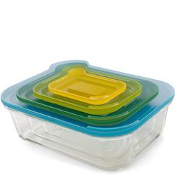 Szklane pojemniki kuchenne Nest Glass Storage Joseph Joseph 4 sztuki 81060