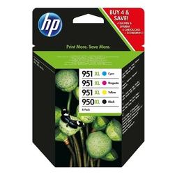 HP oryginalny ink C2P43AE, HP 950XL + HP 951XL, cyanmagentayellowblack, blistr, 15002300s, 4szt, HP Officejet 6100, 6600, 67