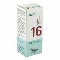Biochemie Pflueger 16 Lithium chlorat.D 6 Tabl.