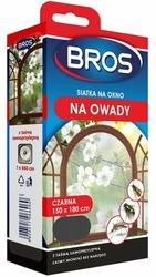 Bros, Czarna siatka na okno zabezpieczająca pomieszczenia przed owadami, 150x180cm