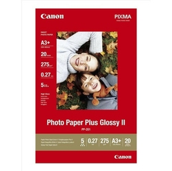 Canon Photo Paper Plus Glossy, foto papier, połysk, biały, A3+, 275 gm2, 20 szt., PP-201 A3+, atrament