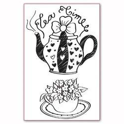 Stempel akrylowy Stamperia - Tea Time - 039