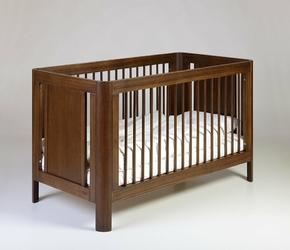 Sun łóżeczko dziecięce 140x70 w kolorze ciemnego orzecha k.walnut