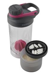 Shaker Contigo z pojemnikiem Shake and Go Fit 650ml - wildberry pink - Różowy